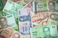 Thaise Bahtnota Stock Afbeeldingen