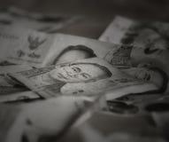 Thaise bankbiljetten, HM Koning Bhumibol Adulyadej, Rama IX van de Chakri-Dynastie Royalty-vrije Stock Foto's