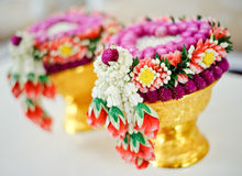 Thaise bloemslinger royalty-vrije stock foto's