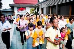 Thaise Boeddhistische ordeningsceremonie Royalty-vrije Stock Afbeelding