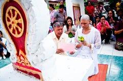 Thaise Boeddhistische ordeningsceremonie Royalty-vrije Stock Foto's
