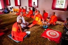 Thaise Boeddhistische ordeningsceremonie Stock Fotografie