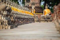 Thaise boeddhistische standbeelden royalty-vrije stock foto's
