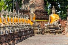 Thaise boeddhistische standbeelden Stock Afbeelding