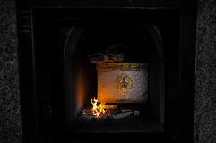 Thaise crematieceremonie Stock Foto