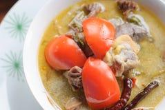 Thaise Cuisine- Tom Kha Kai royalty-vrije stock foto's