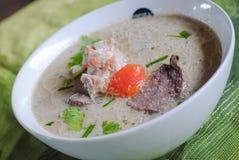 Thaise Cuisine- Tom Kha Kai stock afbeelding
