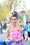 Thaise dameglimlach Stock Afbeeldingen