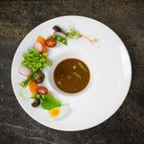 Thaise de Spaanse pepers Onderdompelende Saus Nam Prik Kapi van het Garnalendeeg Stock Foto's