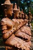 Thaise de tempelstandbeelden van Thepha Royalty-vrije Stock Afbeeldingen
