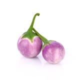 Thaise die aubergine op witte achtergrond wordt geïsoleerd Royalty-vrije Stock Foto