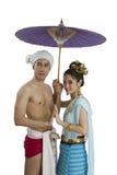 Thaise echtgenoot en vrouw Royalty-vrije Stock Foto