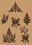 Thaise Fijne Art Flower-reeks [EPS10] Stock Afbeeldingen