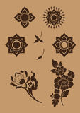 Thaise Fijne Art Flower-reeks [EPS10] Royalty-vrije Stock Afbeelding