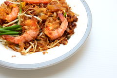 Thaise Fried Noodle With Prawn en pijlinktvis Royalty-vrije Stock Foto