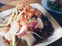 Thaise fruitsalade Stock Afbeeldingen