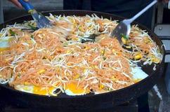Thaise gebraden noedel Stock Foto