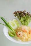 Thaise gebraden rijst met garnalen Royalty-vrije Stock Fotografie