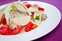 Thaise geklede kruidige salade. Royalty-vrije Stock Fotografie