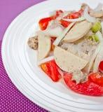 Thaise geklede kruidige salade. Royalty-vrije Stock Foto