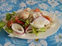Thaise geklede salade Stock Foto