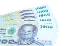 Thaise geldbankbiljetten Royalty-vrije Stock Afbeeldingen