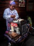 Thaise gesponnen suiker Royalty-vrije Stock Afbeeldingen