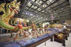 Thaise godsmonumenten in Suvarnabhumi Stock Foto
