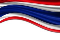 Thaise golvende vlag Royalty-vrije Stock Foto