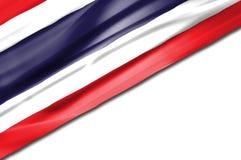 Thaise golvende vlag Stock Afbeeldingen