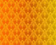 Thaise gouden uitstekende patroon vector abstracte achtergrond Royalty-vrije Stock Afbeeldingen