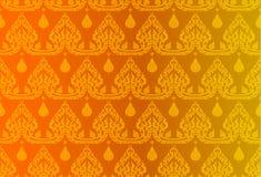 Thaise gouden uitstekende patroon vector abstracte achtergrond Stock Afbeeldingen