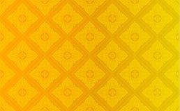 Thaise gouden uitstekende patroon vector abstracte achtergrond Royalty-vrije Stock Afbeelding