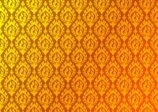 Thaise gouden uitstekende patroon vector abstracte achtergrond Royalty-vrije Stock Foto's