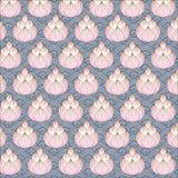 Thaise grafische lotusbloem op water Azië 02 Royalty-vrije Stock Afbeelding