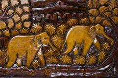 Thaise Gravure Royalty-vrije Stock Fotografie