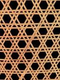 Thaise handcraft van het patroon van het bamboeweefsel Royalty-vrije Stock Fotografie