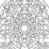 Thaise het elementenachtergrond van het kunstornament Decoratieve motieven Etnisch art. Vector illustratie Stock Foto