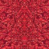 Thaise het elementenachtergrond van het kunstornament Decoratieve motieven Etnisch art. Vector illustratie Royalty-vrije Stock Afbeelding