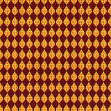 Thaise het Schilderen Stijl of Thaise van de definitiemalplaatje of Lijn Gouden en Rode Kleuren stock foto's