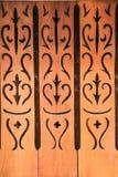 Thaise houten stijl royalty-vrije stock afbeeldingen