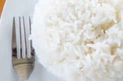 Thaise jasmijn gekookte rijst Royalty-vrije Stock Foto's