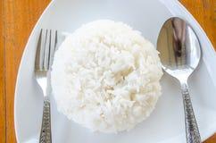 Thaise jasmijn gekookte rijst Royalty-vrije Stock Afbeeldingen