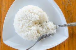Thaise jasmijn gekookte rijst Stock Foto's