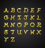 Thaise Kalligrafische Alfabet ontwerp-vector Illustratie Royalty-vrije Illustratie