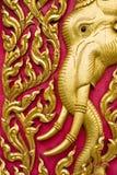 Thaise kerkdeur Royalty-vrije Stock Afbeeldingen
