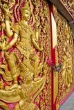 Thaise kerkdeur Stock Afbeeldingen