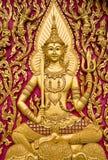 Thaise kerkdeur Royalty-vrije Stock Fotografie