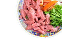 Thaise Keuken en Voedsel, Zuur die varkensvlees met Varkensvlees wordt gemaakt Royalty-vrije Stock Afbeeldingen