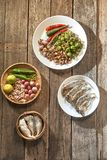 Thaise keuken nam prik of de mengelingen van het Spaanse peperdeeg royalty-vrije stock foto